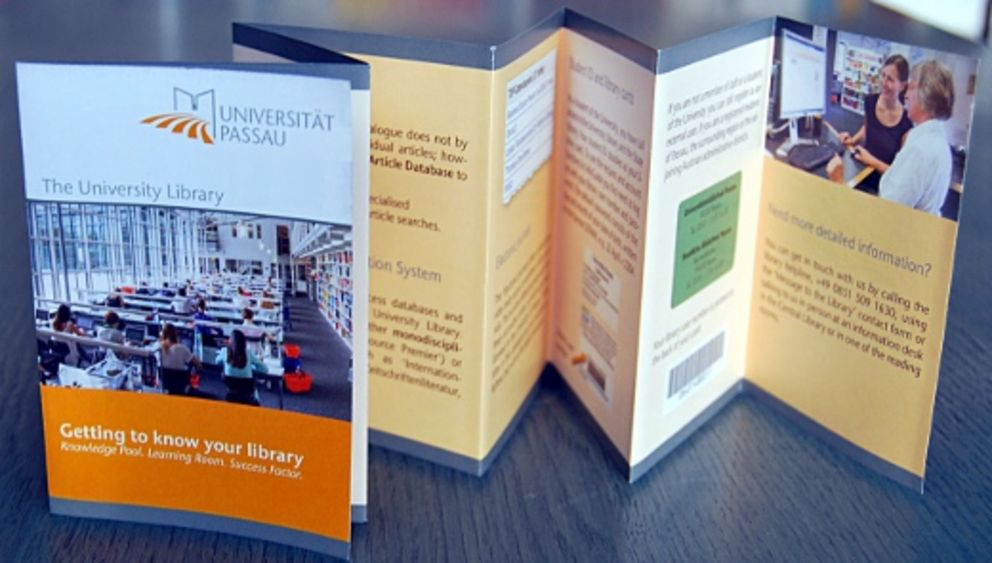 "Leaflet of the University Library ""Getting to know your library"""