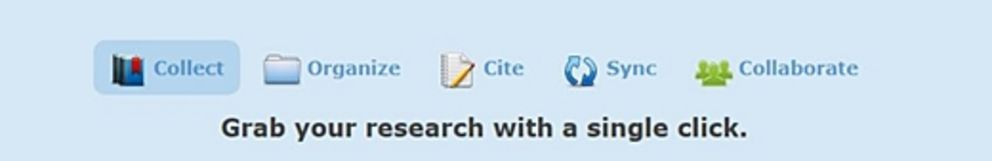 Zotero - Grab your research with a single click